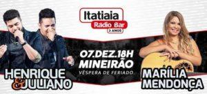 Sertanejos Marília Mendonça e Henrique e Juliano animam o Aniversário do Itatiaia Rádio Bar na Esplanada do Mineirão