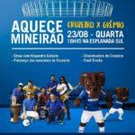 """Aquece Mineirão chega para """"esquentar"""" os torcedores antes do jogo Cruzeiro X Grêmio nesta quarta-feira"""