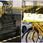 Yellow lança operação de bikes e patinetes em Belo Horizonte
